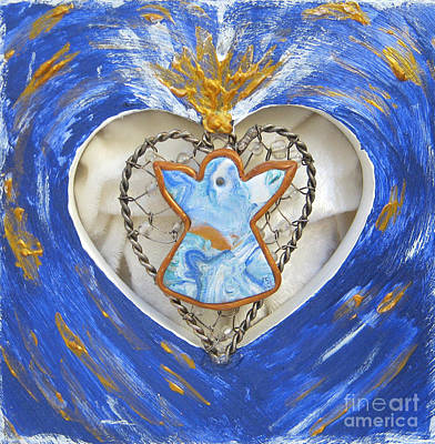 Heart Angel Sparkling Art Print
