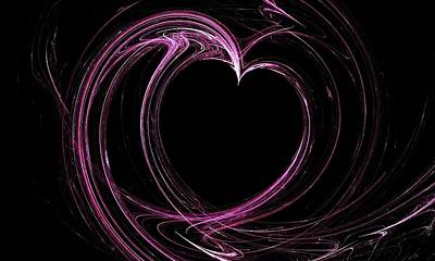 Digital Art - Heart by Angie Tirado