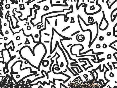 Digital Art - Heart Arow Bolt by Neal Barbosa