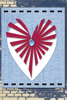 Heart Art Art Print by Tina M Wenger