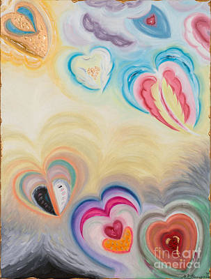 Painting - Heart Ascension by MarBak Treasures Mary P Bakogiannis