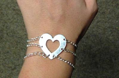 Sterling Silver Chains Jewelry - Heart Bracelet by Sarah B