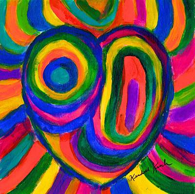 Painting - Heart Burst by Kendall Kessler
