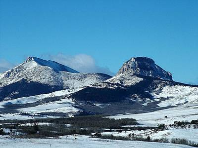 Photograph - Heart Butte, Feather Woman Mountains, Winter Mountain by Tracey Vivar