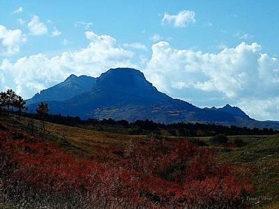 Photograph - Heart Butte Mountain, Fall by Tracey Vivar