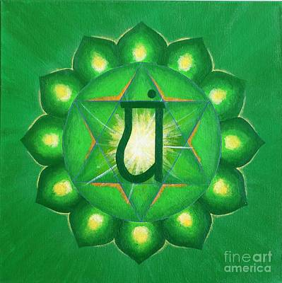 Wall Art - Painting - Heart Chakra by Anna Martinsen