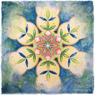 Painting - Heart Chakra Healing by Holly Burger