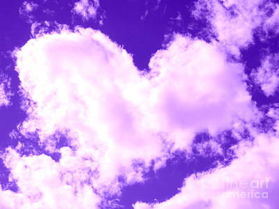 Photograph - Heart Cloud In Sedona by Marlene Rose Besso