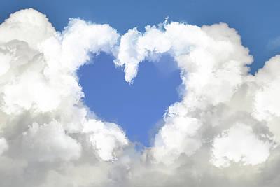 Surrealism Digital Art - Heart cloud by Mihaela Pater