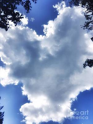 Photograph - Heart Cloud by Vennie Kocsis