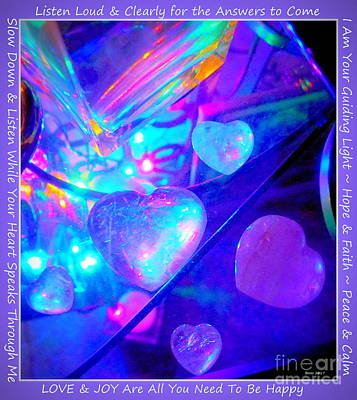 Photograph - Heart Crystals by Marlene Rose Besso