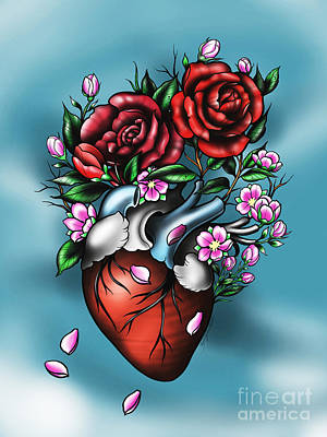 Digital Art - Heart by Curiobella- Sweet Jenny Lee