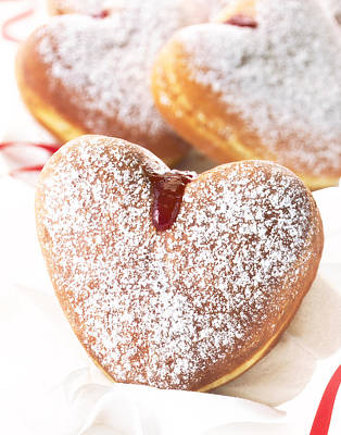 Heart Donuts Print by Federico Arce