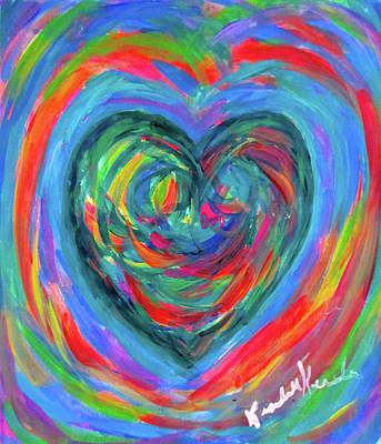 Painting - Heart Energy by Kendall Kessler