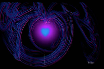 Digital Art - Heart Energy by Bill Posner