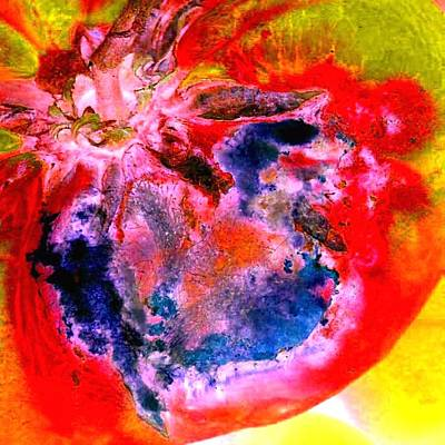 Photograph - Heart Explosion by Marianne Dow