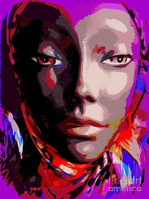 Mixed Media - Heart Faced Hallie by Ed Weidman