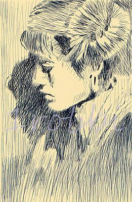 Robbi Musser Drawing - Heart Felt by Robbi  Musser
