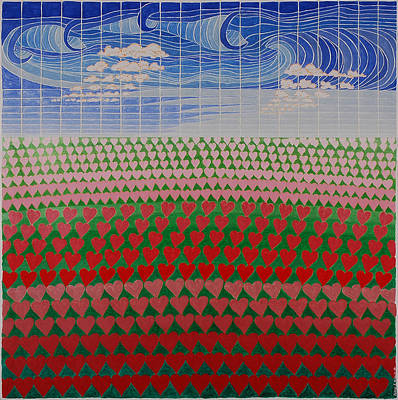 Painting - Heart Fields by Jesse Jackson Brown