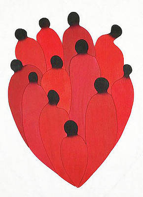 Mixed Media - Heart by Fred Gardner