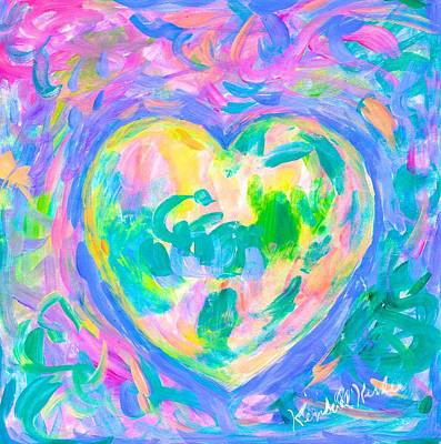 Painting - Heart Glow Again by Kendall Kessler