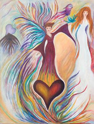 Heart Goddess Art Print by Leti C Stiles