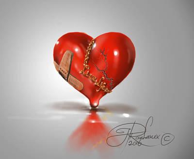 Digital Art - Heart by Hay Rouleaux