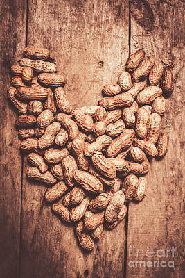 Pods Photograph - Heart Health And Nuts by Jorgo Photography - Wall Art Gallery