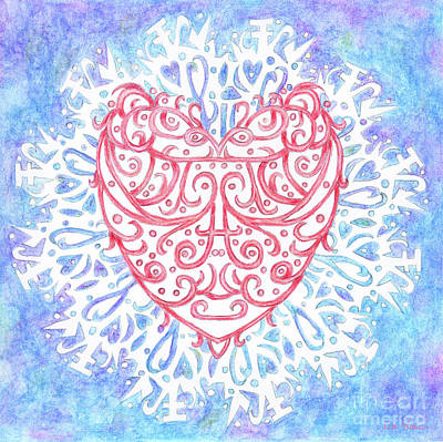 Heart In A Snowflake II Art Print