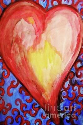 Painting - Heart In Bloom by Liz Veras