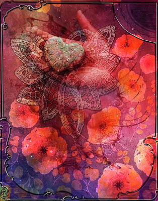 Digital Art - Heart In Hand by Linda Carruth