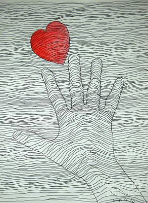 Painting - Heart In Hand by Tamyra Crossley