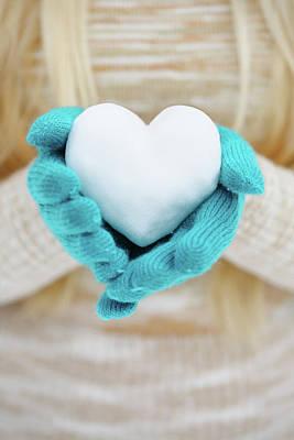 heart in hands by Iuliia Malivanchuk Art Print by Iuliia Malivanchuk