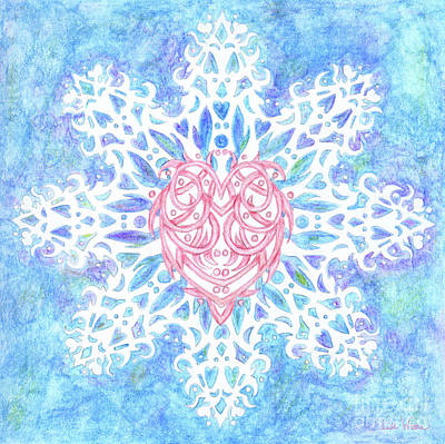 Painting - Heart In Snowflake by Lise Winne