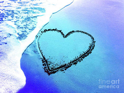 Photograph - Heart In The Sand by Jim And Emily Bush