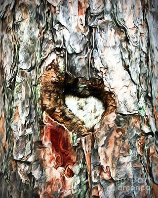 Photograph - Heart In The Tree by Kerri Farley