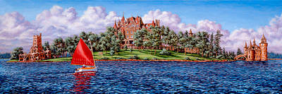 St. Lawrence River Painting - Heart Island by Richard De Wolfe