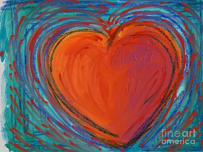 Painting - Heart by Jeanie Watson
