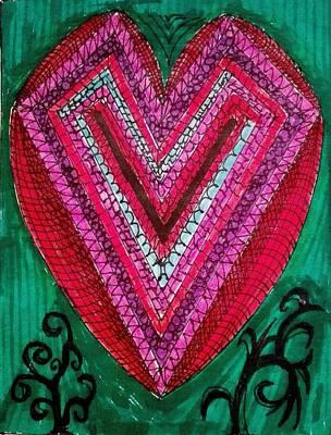 Painting - Heart by Jesus Nicolas Castanon