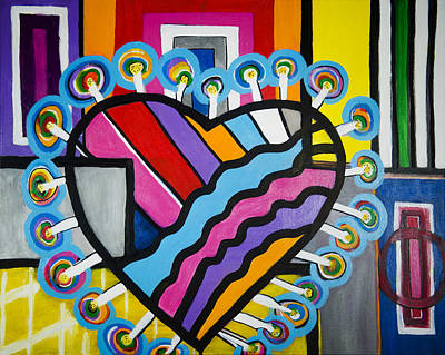 Painting - Heart by Jose Rojas
