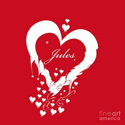 Longines Digital Art - Jules Heart M1 by Johannes Murat