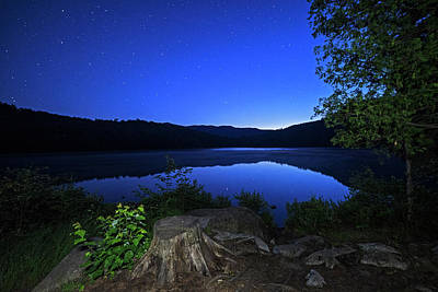 Photograph - Heart Lake At Twilight Adirondack Loj North Elba New York Ny by Toby McGuire