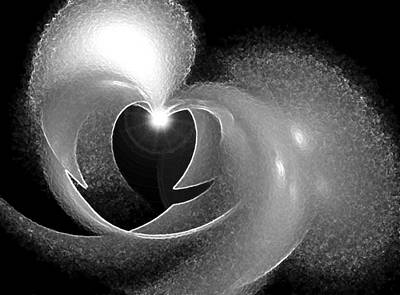 Digital Art - Heart Light by Holly Ethan