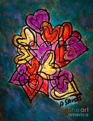 Painting - Heart Links by Anne Sands