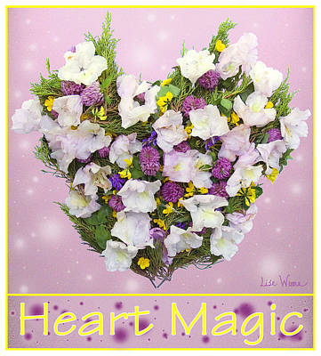 Fairy Hearts Pink Flower Digital Art - Heart Magic by Lise Winne