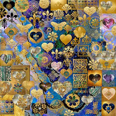 Meditative Digital Art - Heart-making by Susan Ragsdale