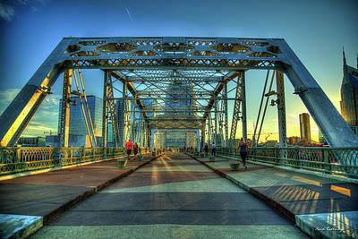 Photograph - Heart Medicine Nashville John Seigenthaler Pedestrian Bridge Art by Reid Callaway