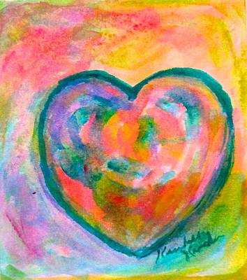 Painting - Heart Mist by Kendall Kessler