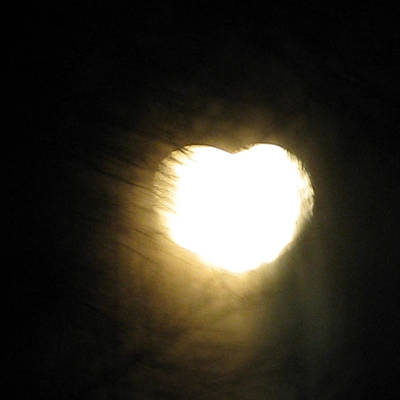Photograph - Heart Moon by Patricia Januszkiewicz