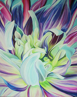 Painting - Heart Of A Dahlia by Karen Hurst